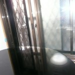 ピアノレッスン室窓