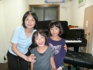 ピアノ生徒さんえり、りさちゃん